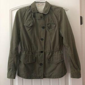 Banana Republic 2 olive military utility jacket